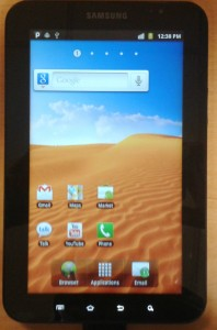 Galaxy Tab corriendo Android Gingerbread