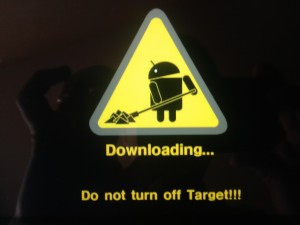 Galaxy Tab in Download mode
